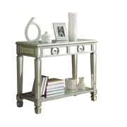 Monarch 38 Sofa Console Table With 2 Drawers, Mirrored