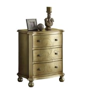 "Monarch 28 1/2"" Transitional 3 Drawer Bombay Chest, Golden"