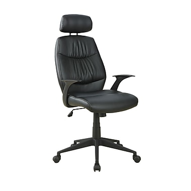 Monarch Leather Look in.Retro Stylein. Office Chair, Black