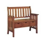 "Monarch 40"" 3 Drawer Storage Bench, Oak Mission"