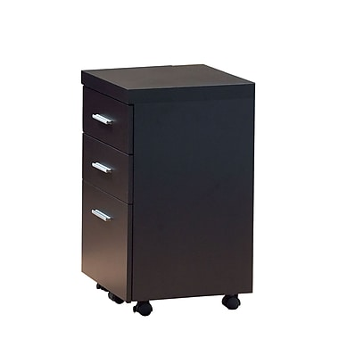 Monarch 16in.D Hollow-Core 3-Drawer File Cabinet, Cappuccino