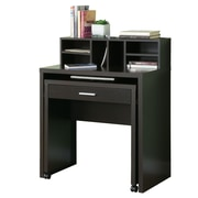 Monarch Hollow Core Spacesaver Desk With Open Storage, Cappuccino