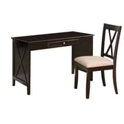 Monarch Birch Veneer 2-Piece Desk Set, Cappuccino