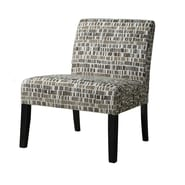 Monarch Textured Brick Fabric Accent Chair, Beige / Olive Green