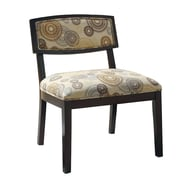 Monarch Circular Fabric Accent Chair, Earthtone
