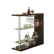 Monarch 44 x 16 x 47 Metal Bar Table, Cappuccino Glossy