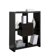 Monarch Hollow Core Bookcase With Storage Drawers, Cappuccino