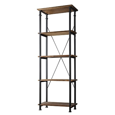 HomeBelle Vintage Industrial Bookcase, Modern Rustic