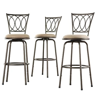 HomeBelle Scroll Adjustable Swivel Counter Barstool