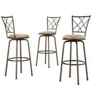 HomeBelle Quarter Cross Swivel Counter Barstool