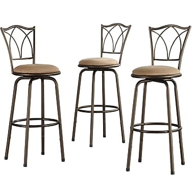 HomeBelle Double Cross Swivel Counter Barstool