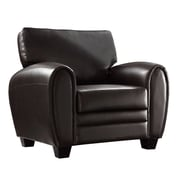 HomeBelle Bonded Leather Chair, Brown