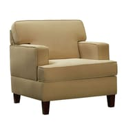HomeBelle Microfiber Arm Chair, Beige (789992-1(3A))