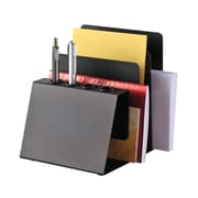 MMF Industries™ STEELMASTER® Steel Organizers Pen and Note Holder, Black