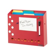 MMF Industries™ STEELMASTER® Soho Collection™ Wall File Basket With Dry Erase/Pen and Magnet, Red