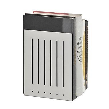 MMF Industries™ STEELMASTER® 8in. Heavy Duty Bookend, Silver