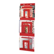 MMF Industries Steel Master Soho Collection 6-Pocket Steel Magazine Rack, Red