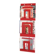 "MMF Industries™ STEELMASTER® 3-Tier 6-Pocket Magazine Rack, Red, 31""H x 12""W x 1 1/4""D"