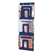 "MMF Industries™ STEELMASTER® 3-Tier 6-Pocket Magazine Rack, Blue, 31""H x 12""W x 1 1/4""D"