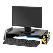 MMF Industries™ STEELMASTER® Steel Monitor Stand, Black