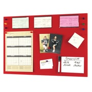 "MMF Industries™ STEELMASTER® Flat Magnetic Note Board, Red, 14""H x 24""W x 1/2"""