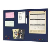 "MMF Industries™ STEELMASTER® Soho Collection™, 14"" H x 24"" W, Magnetic Steel Blue Board (270162408)"
