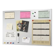 "MMF Industries™ STEELMASTER® Flat Magnetic Note Board, Silver, 14""H x 24""W x 1/2""D"