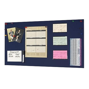 MMF Industries™ STEELMASTER® Soho Collection™ 14in.(H) x 30in.(W) Magnetic Board, Blue