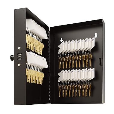MMF Industries™ STEELMASTER® 40 Keys Combination Locking Cabinet, Black