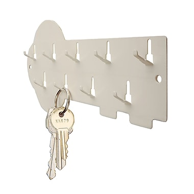 MMF Industries™ STEELMASTER® 9-Hook Decorative Key Rack, Putty