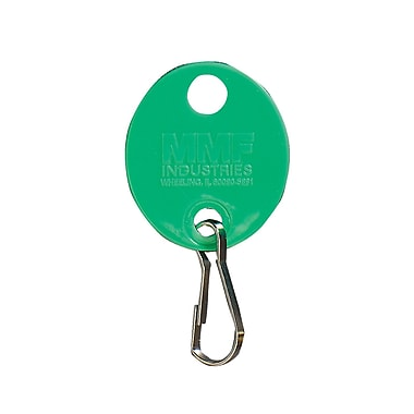 MMF Industries™ Oval Key Tags With Snap Hook, 1 1/4