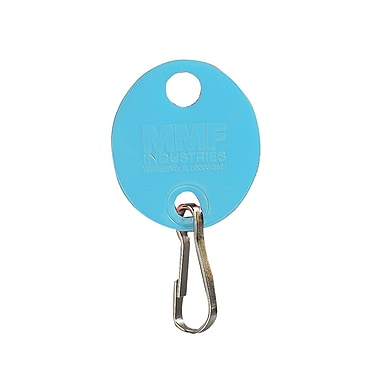 MMF Industries™ Oval Key Tags With Snap Hook, 1 1/4in., Blue