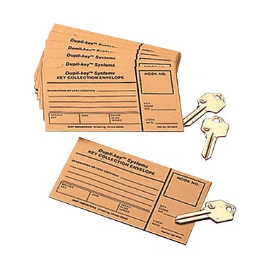 MMF Industries™ Key Collection Envelopes, 3in. x 5in., Manila