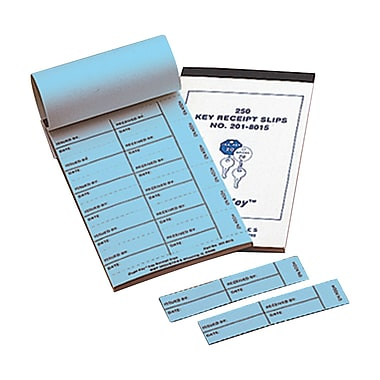 MMF Industries™ Key Receipt Slips For Two Tag System