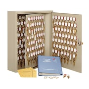 MMF Industries™ STEELMASTER® Dupli-Key® 30 Keys Two-Tag Cabinet, Sand