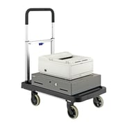 MMF Industries™ STEELMASTER® FlatForm™ Folding Cart, Silver/Black, 36 1/2(H) x 16(W) x 26 1/2(L)