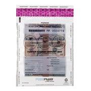 "MMF Industries™ FREEZFraud™ 12"" x 9"" Tamper Evident Deposit Bags, Clear"