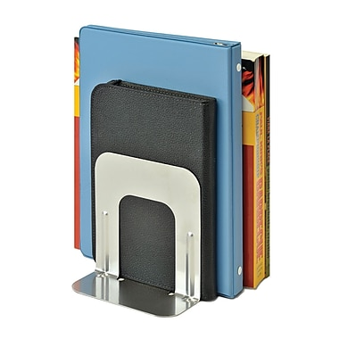MMF Industries™ STEELMASTER® Soho Collection 5in. Economy Bookend, Silver