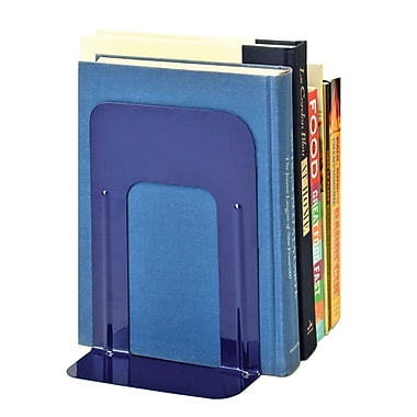 MMF Industries™ STEELMASTER® Soho Collection 9in. Deluxe Bookend, Blue