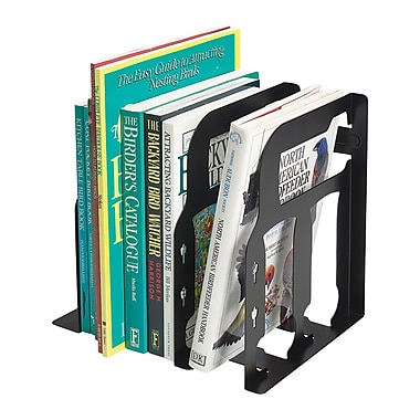 MMF Industries™ STEELMASTER® 9in. Miracle Bookend Organizer, Black