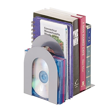 MMF Industries™ STEELMASTER® 5 3/8in. Deluxe Sorter Curved Bookend, Silver