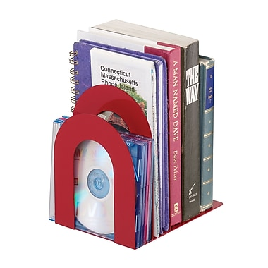 MMF Industries™ STEELMASTER® 5 3/8in. Deluxe Sorter Curved Bookend, Red