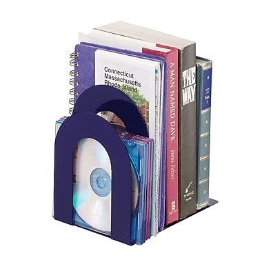 MMF Industries™ STEELMASTER® 5 3/8in. Deluxe Sorter Curved Bookend, Blue