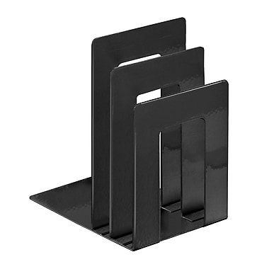 MMF Industries™ STEELMASTER® 5 3/8in. Deluxe Sorter Square Bookend, Black