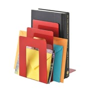 """MMF Industries™ STEELMASTER® 5 3/8"""" Deluxe Sorter Square Bookend, Red"""