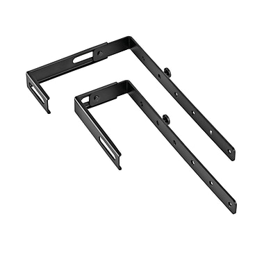 MMF Industries™ STEELMASTER® Partition Hanger For 1 3/8in. - 3 5/8in. Partitions, Black