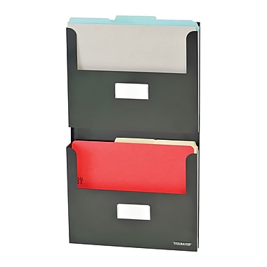 MMF Industries™ STEELMASTER® Soho Collection™ 2-Pocket Organizers With Bracket