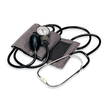 Omron® Home Manual Blood Pressure Kit, Medium, Gray