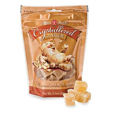 The Ginger People Crystallized Ginger Candy Bag, 3.5 oz., 24 Bags/Order