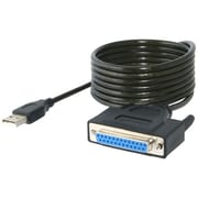 Sabrent 6' USB 2.0 to DB25 Female Parallel Printer Converter Cable